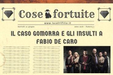 Il caso Gomorra e gli insulti a Fabio De Caro