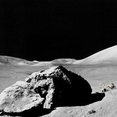 """Illustrazione racconto """"Di parole perdute e di crateri lunari"""", uscito su Nazione Indiana"""
